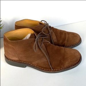 Brooks Brothers suede chukka boots tan 8.5